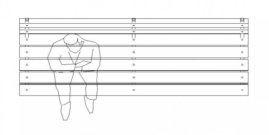 One men bench plan layout file