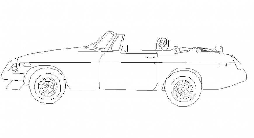 Open design car model in AutoCAD file