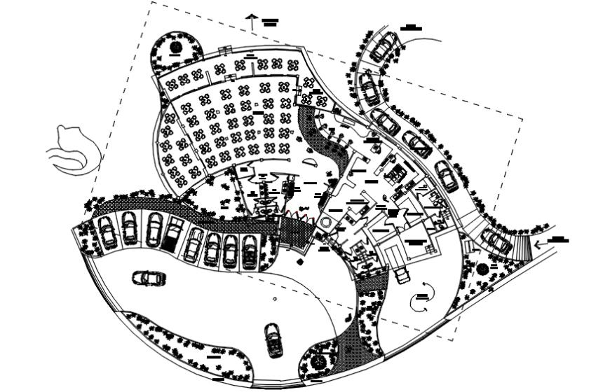 Open restaurant layout plan details