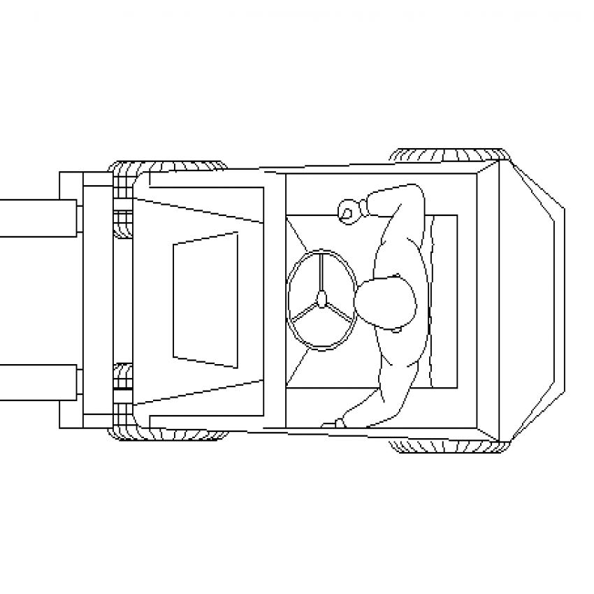 Open roof mini car cad blocks design dwg file
