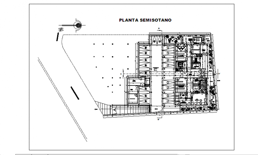 Operating plan of Hospital design drawing