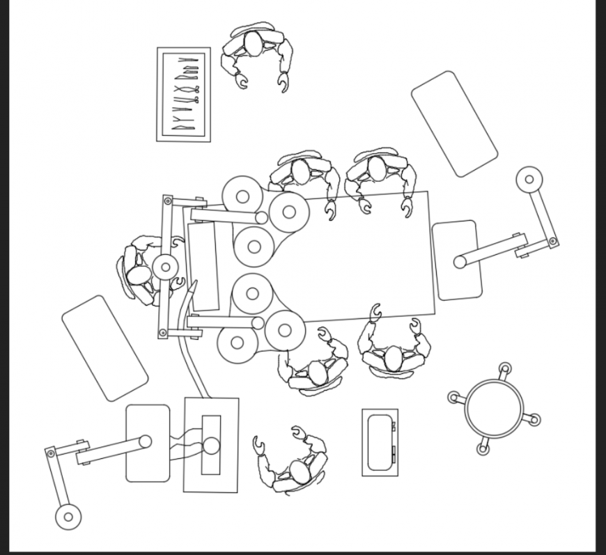 Operating room blocks details of multiple theater cad drawing dwg file