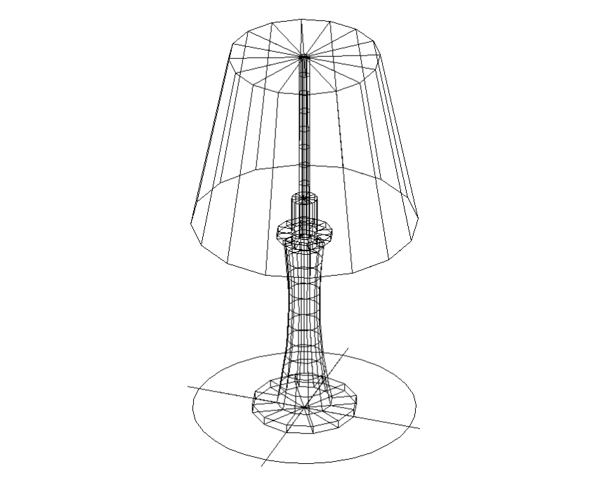 Ordinary desk lamp cad 3D model cad drawing details dwg file