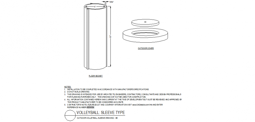 Outdoor volley-ball court detail plan autocad file