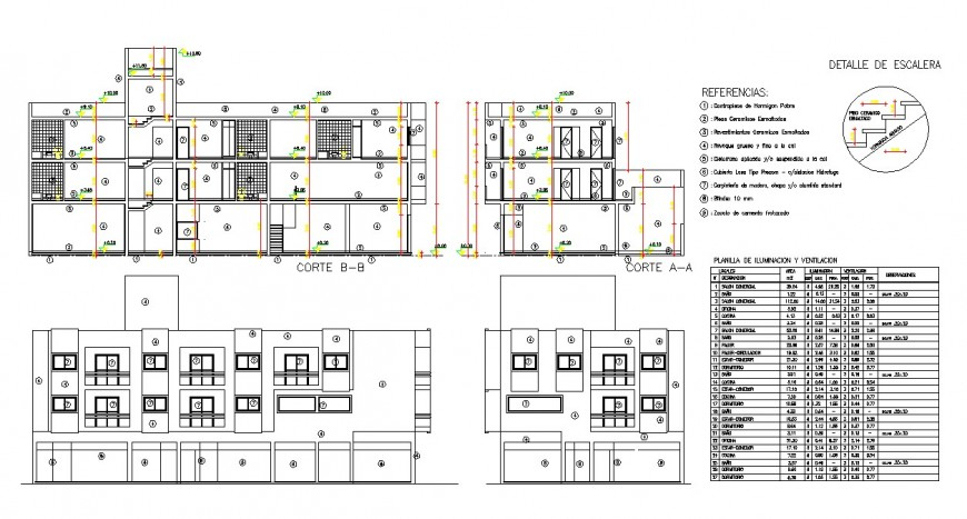 Outer exterior elevation of a building design
