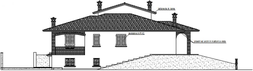 Outside exterior concept of section villa