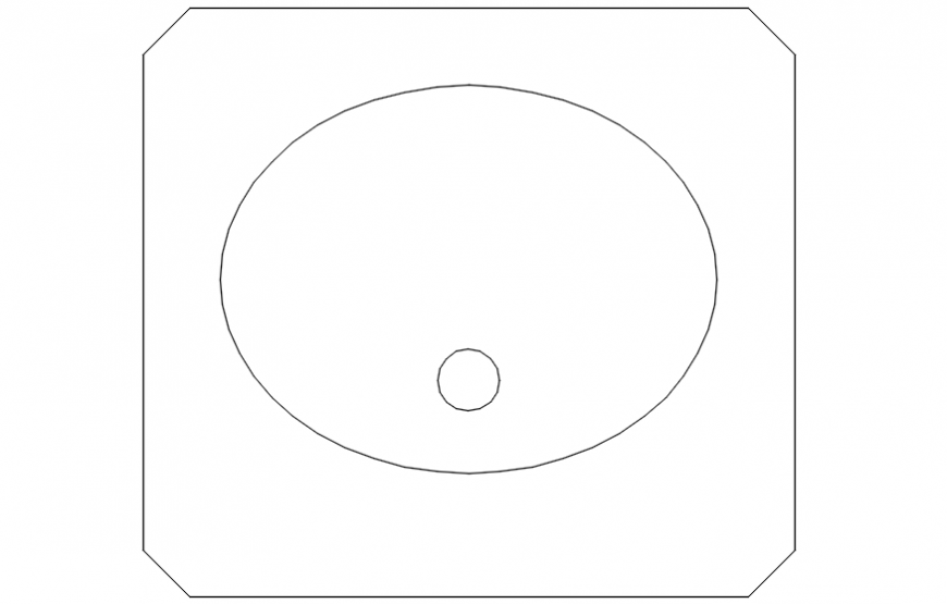 oval standing basin .dwg file