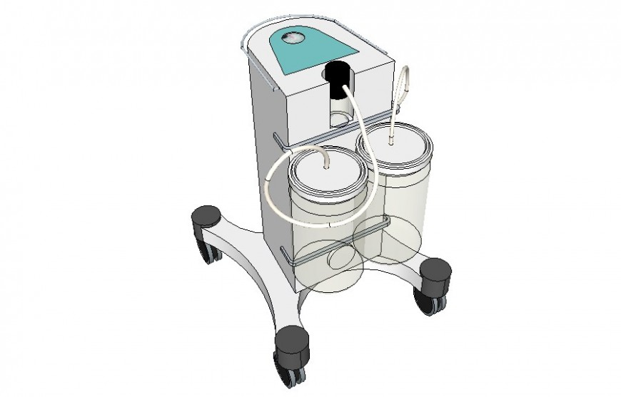 Oxygen supply hospital machinery detail 3d model layout sketch-up file