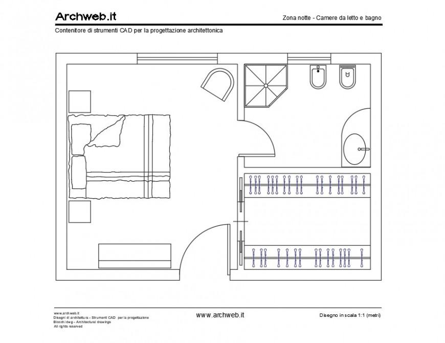 P.G room layout plan layout file