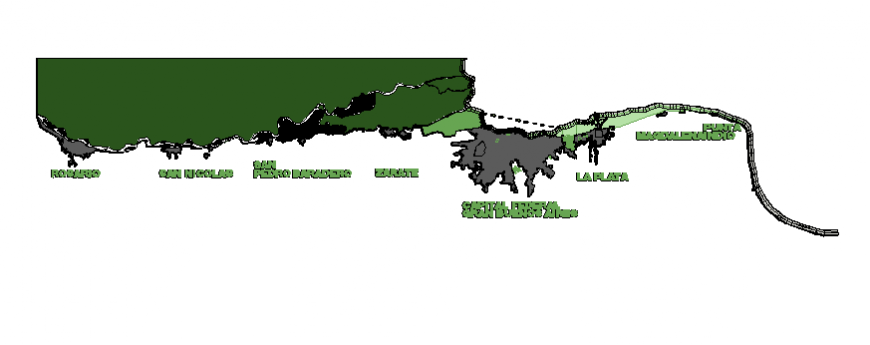 Parana coastal region green area and location map details dwg file
