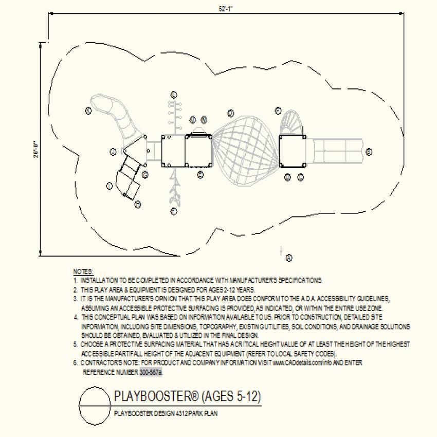 Park plan autocad file