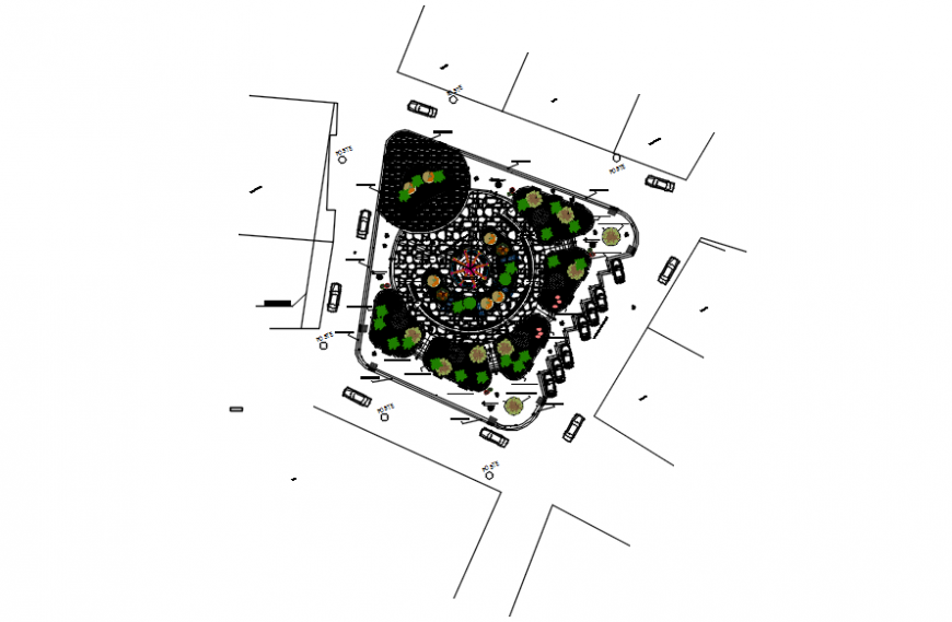 Park plan project in auto cad