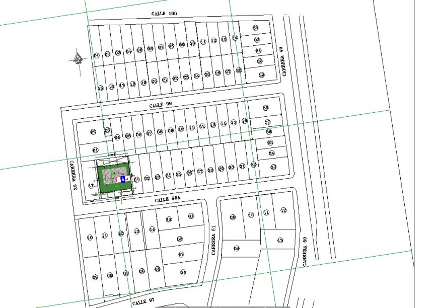 Parking area detail 2d view CAD block layout file in autocad format