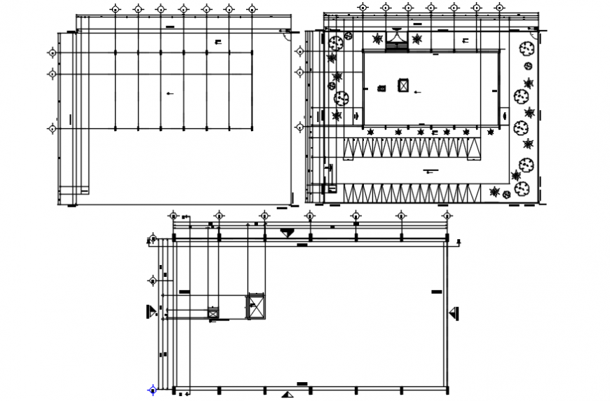 Parking plan and rooftop plan of hotel in AutoCAD file