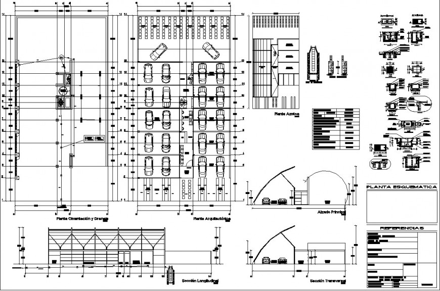 Parking plot in autocad dwg file .