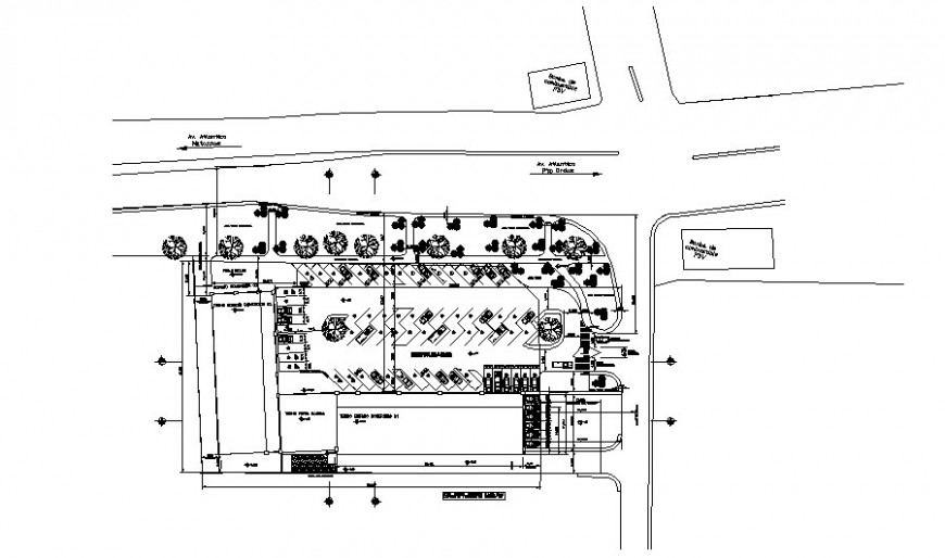 Parking space area details 2d drawing in autocad
