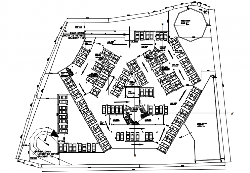 Parking space area drawings detail 2d view autocad software file
