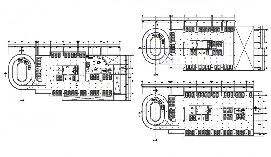 Parking space drawings detail 2d view plan autocad software file