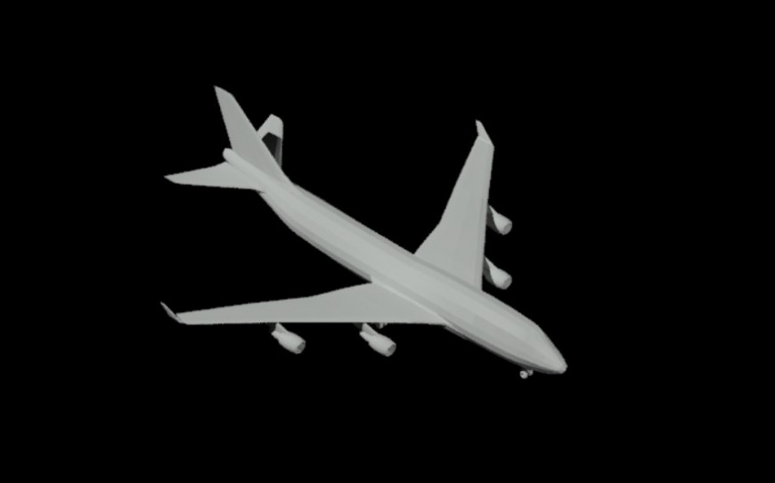 Passenger airplane 3d model cad drawing details dwg file