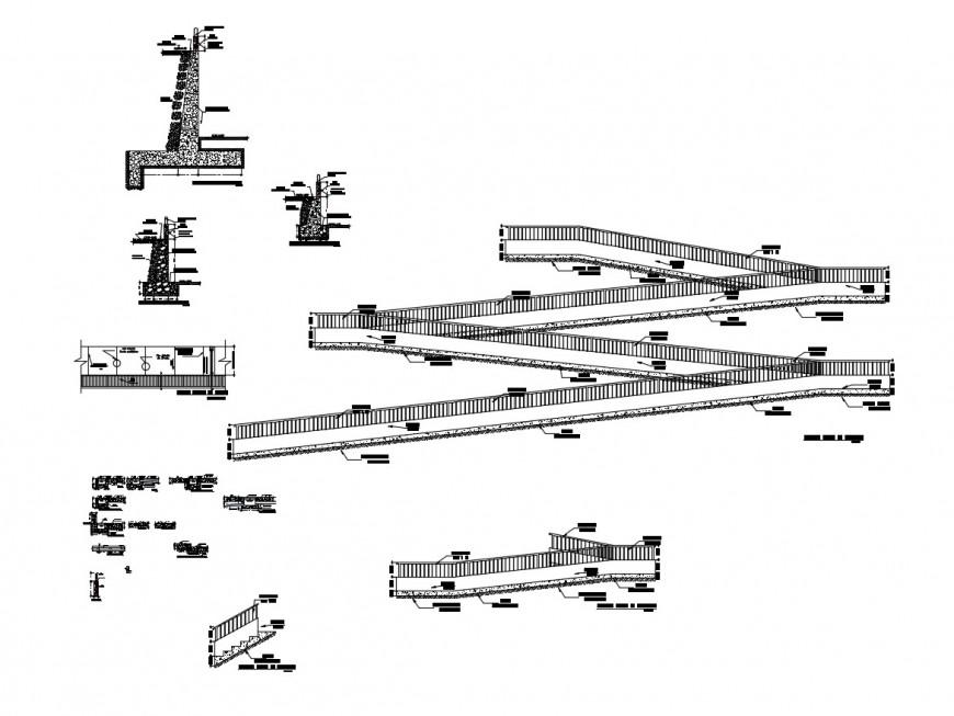 Pedestal walk, ram walk and garden automation cad drawing details dwg file