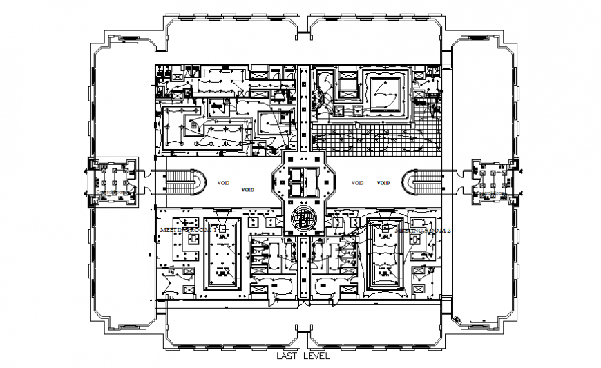 Pent house layout plan and electrical layout plan cad drawing details dwg file