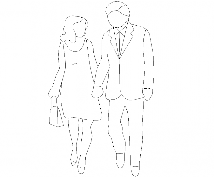 People couple plan with a detailed dwg file.