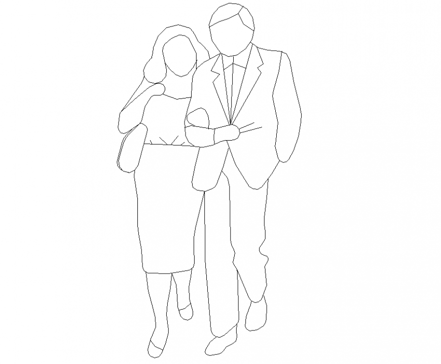 People couple plan with detail dwg file.