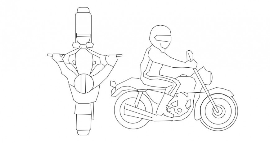 people on bike blocks cad file