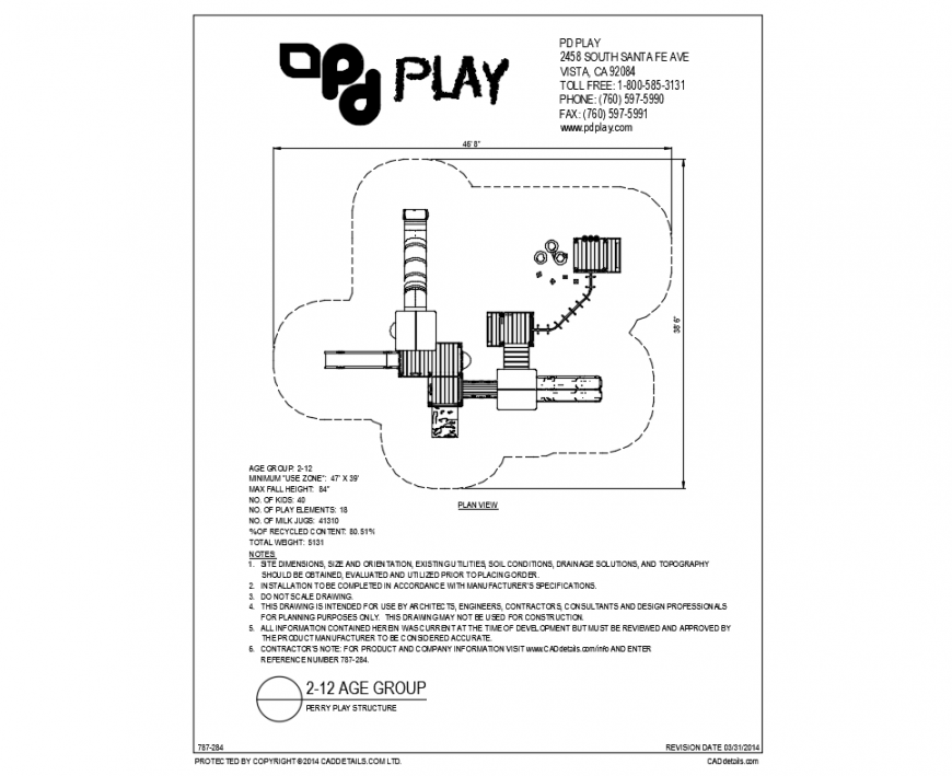 Perry kinder garden plan view with landscaping dwg file