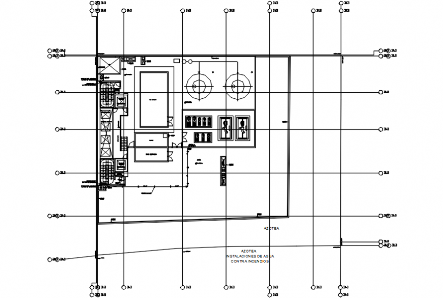 Peru office layout plan and structure drawing details dwg file