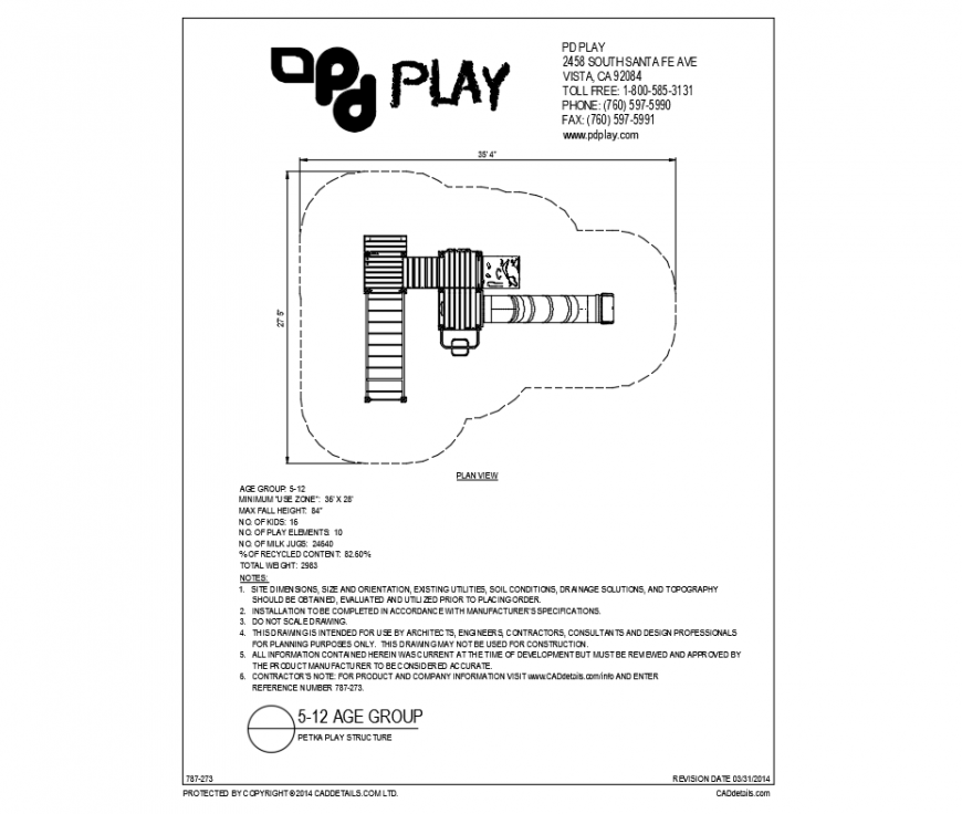 Petka small kinder park plan and structure details dwg file