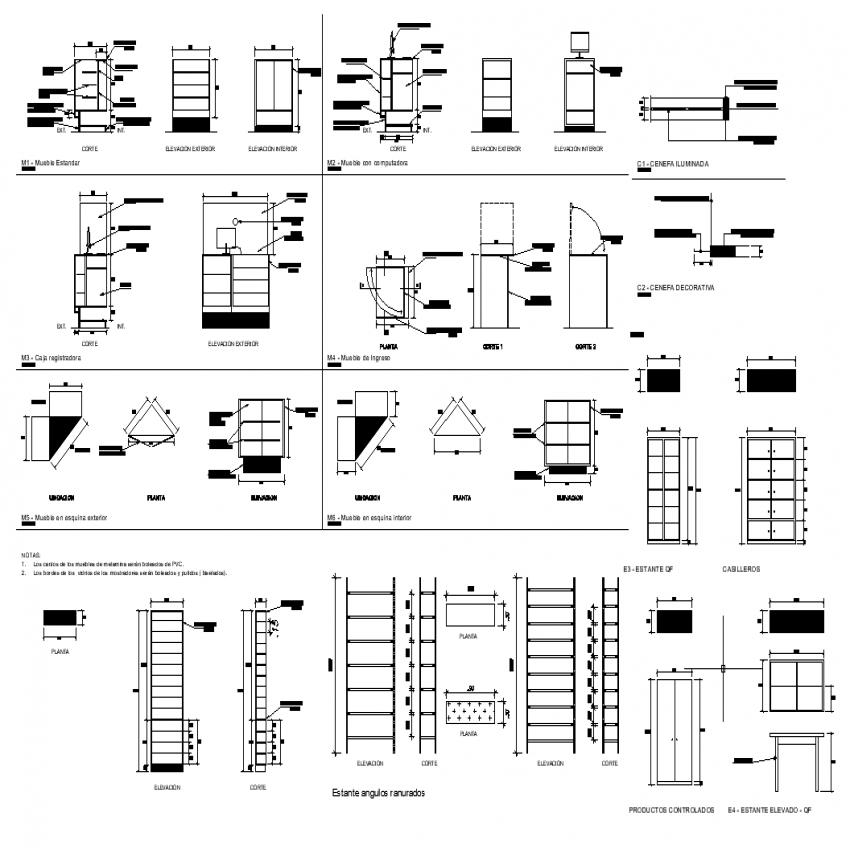 Pharmacy plan with detail dwg file.