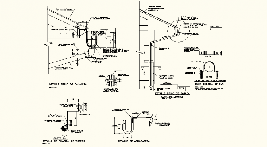 Pipe line design of residential area with detail for pipe dwg file