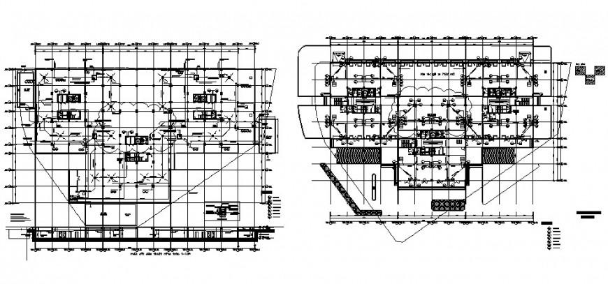 Pipe line installation floor plan in auto cad software