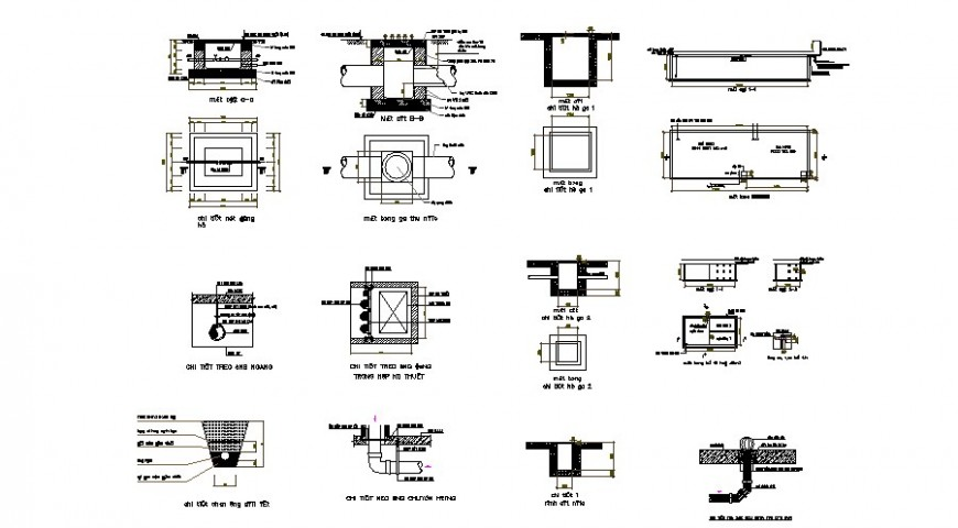 Pipe system and other sewer blocks autocad drawing