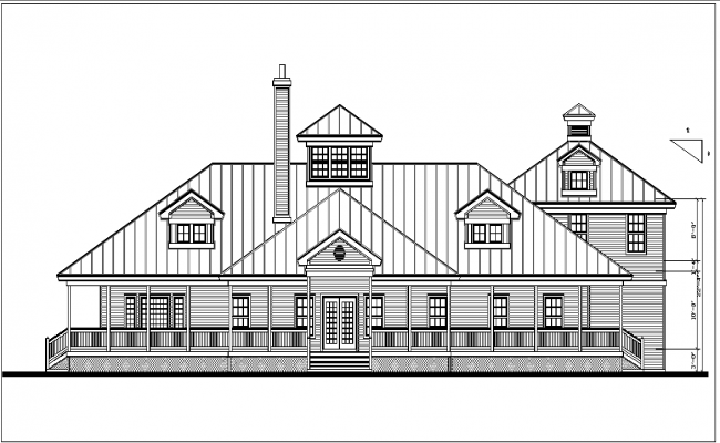 plan elevation view detail dwg file