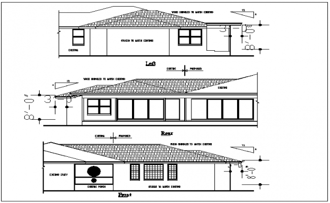 Plan Elevation End View : Plan elevation view detail dwg file