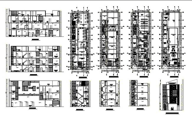 plan of clinic 10.00mtr x 30.00mtr with detail dimension in dwg file