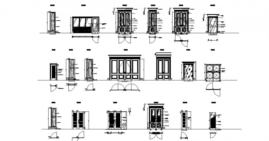 Plan and elevation door autocad file