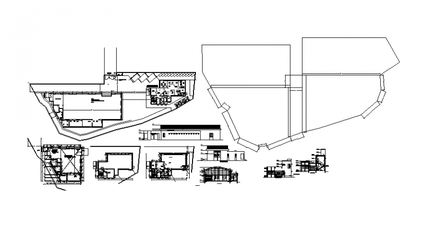 Plan and elevation of building