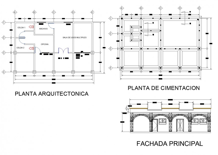 Plan and elevation project commissioner layout file