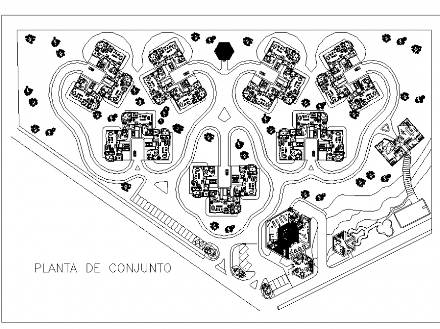 Plan commercial building detail