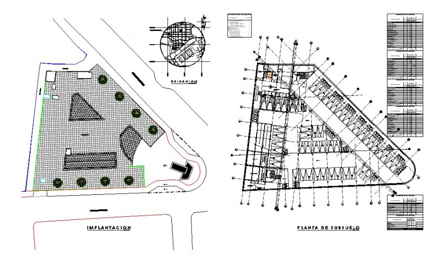 Plan detail of parking system detail 2d view CAD block layout autocad file