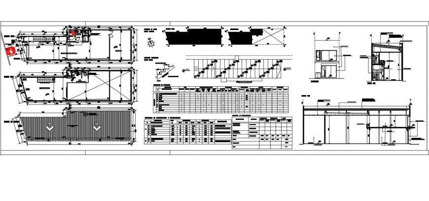 Plan detail of store building 2d view CAD block layout file in autocad format