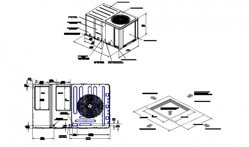 Plan detail of water tank detail CAD block layout file in autocad format