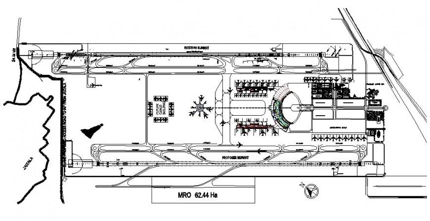 Plan of airport design in autocade