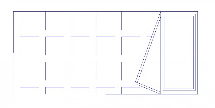 Plan of bed in block of furniture for AutoCAD file