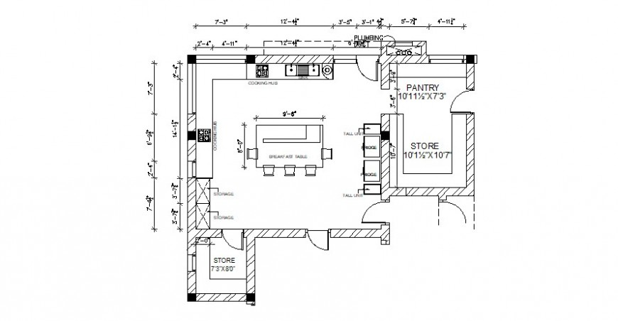 Plan of corporate building office in AutoCAD file