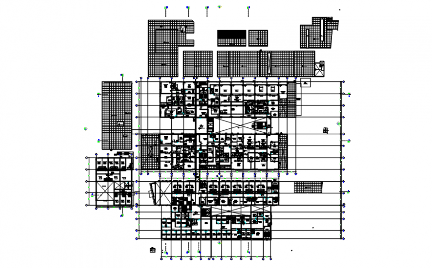 Plan of hospital in auto cad file