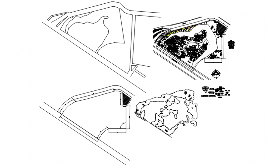 Plan of park in auto cad file